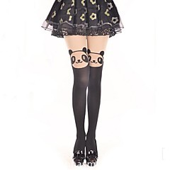 Cute Smiling Panda Black Sweet Lolita Pantyhose Stockings
