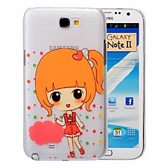 Cute Little Girl Pattern PC Brushed Case for Samsung Galaxy Note 2 N7100