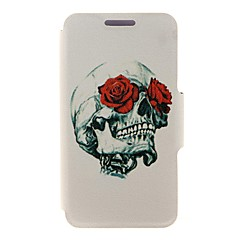 Kinston Rose & Skull Design Pattern PU Leather Full Body Case with Stand for iPhone 4/4S