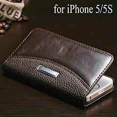 Crazy Horse + modèle litchi portefeuille tenir pu étui en cuir pour iPhone 5 / 5s (couleurs assorties)