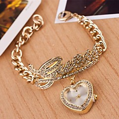 Women's Heart Quartz Alloy Bracelet Watch(Assorted Colors)