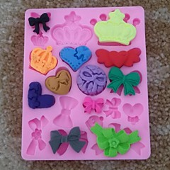 Crown Bowknot Shaped Fondant Cake Chocolate Silicone Mold