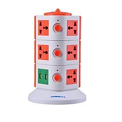 overbelastningsbeskyttelse 5v / 2.1a 3 sal med 11 universelle udgange og 2 usb os adapter strømskinner