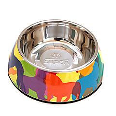 perros patrón plato de comida para mascotas perros