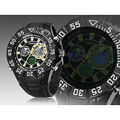 nero japan orologio sportivo subacqueo movimento moda rotondo banda di silicone quadrante dell'orologio da polso da uomo (colori assortiti)