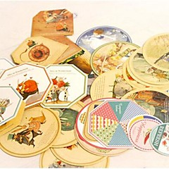 45pcs / set mini-carte postale mignonne carte de voeux bricolage noël nouvelle année décorations de cadeau en retour de mariage