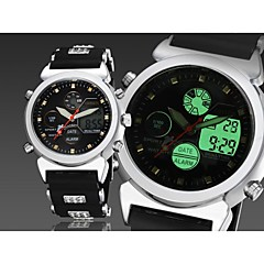 rond noir bande cadran de la montre de silicone japon mode mouvement montre de sport de plongée montre des hommes (couleurs assorties)