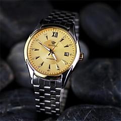 reloj de acero inoxidable relojes de los hombres de alto grado circulares impermeables automáticos mecánicos (colores surtidos)