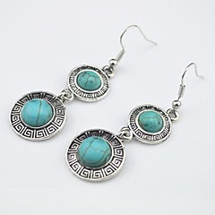 Toonykelly Vintage Look Turquoise Stone Dangle Drop Earring(1Pair)