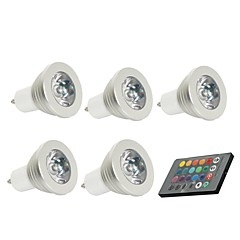 3W GU10 LED Spotlight 1 150 lm Remote-Controlled / Decorative AC 85-265 V 5 pcs