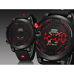 Man's  Digital LED Date Day Alarm Men's Sports Diver Outdoor Quartz Silicone Strap Watch