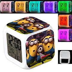 sbires 7 changement de couleur réveil numérique conduit thermomètre nuit colorées jouets rougeoyantes