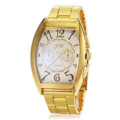 Herren-Quadrat Zifferblatt Gold Stahlband Quarz-Armbanduhr (farbig sortiert)