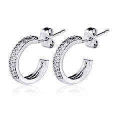 The Stud Earrings Jewelry,in 925 Sterling Silver Earrings Jewelry,Cubic Zirconia Earrings,Women's Earrings Jewelry