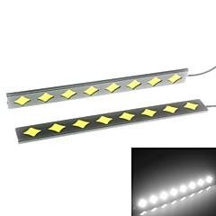 2 kpl asetettu vedenpitävä alumiini suuritehoiset 6w 6000K xenon valkoinen ohut tähkä led päiväajovalojen lampun
