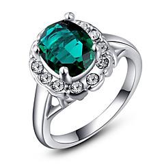 Roxi® Silver Green Diamond Ring