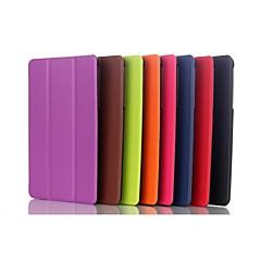 8 pulgadas de tres patrón de plegamiento caso de cuero de la PU con el soporte para Dell Venue Pro 8 (colores surtidos)