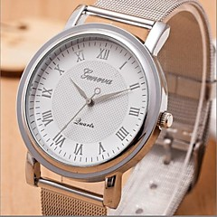 Women's Silver Steel Band Quartz Analog Wrist Watch (Assorted Colors)