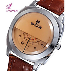 SKONE ® Men's Round Dial PU Leather Japan Quartz Wristwatch (Assorted Colors) Cool Watch Unique Watch Fashion Watch