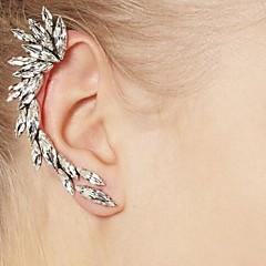 Pendientes de la moda de clip de aleación de plata hermosa rhinestone (1pc)