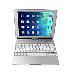: Hela kroppen fallet bluetooth trådlöst tangentbord knappsats med 360 rotation står för ipad luft halv / ipad 5/6