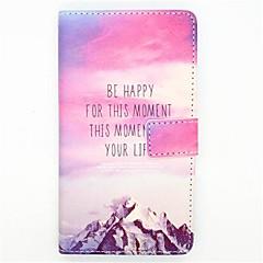 motif nuages de fleurs en cuir PU cas de tout le corps avec fente pour carte et Stand pour iPhone 4 / 4s