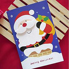 cartes poudre de paillettes de christma avec chapeau de Noël