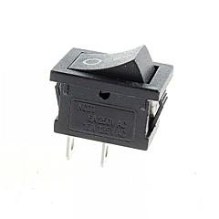 Rocker Switch 2-Pin ON / OFF - Black (6A, AC 250V / 10A, AC 125V) (10pcs)