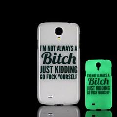 Phrase Pattern Glow in the Dark Hard Case for Samsung Galaxy S4 I9500