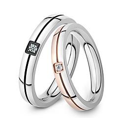 Ring Inlay Zirkon aaa Klasse Qualität Titan Stahl Paare lieben für Paare Geschenk promis Ringe