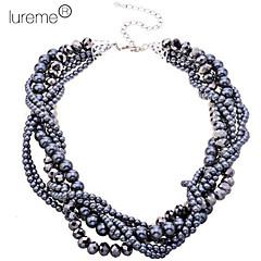 Lureme®Korean Style Black Pearls Short Necklace