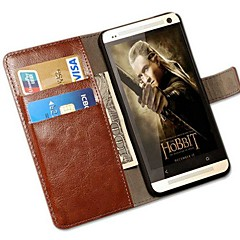 Retro Crazy Horse PU Leather Full Body Case with Stand and Card Slot for HTC One M7  (Assorted Colors)