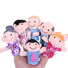 Family Members Baby Finger Puppets Baby Tell Stories Helper Stuffed Plush Dolls