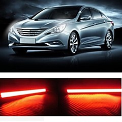 2pcs 17cm 6W 600-700LM Daytime Running light Red Color High Power COB DRL Waterproof IP68 Daylight(12V)