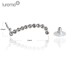 Lureme®Crystal Line Ear Cuff Single Stud Earring