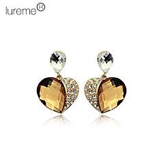 Lureme®Heart Diamond Inlaid Crystal Ear Studs