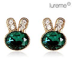 Lureme women's Emerald Rabbit Jewelry Set(Earrings&Bracelet)