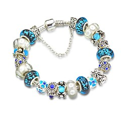Blue Charm Bracelet for Christmas Gift