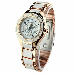 Mulheres Relógio Elegante Quartz Lega Banda Ouro Rose marca-