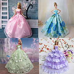 Princess Dresses For Barbie Doll Purple / Blue Dresses