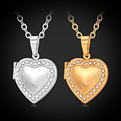 Golden / Silver Choker Necklaces / Pendant Necklaces / Lockets Necklaces Rhinestone / Platinum Plated / Gold PlatedWedding / Party /