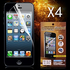 Protective HD Screen Protector for iPhone 5/5S(4PCS)