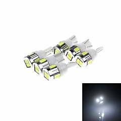 T10 3W 180lm 6 x SMD 5730 LED White Light Car Lamp - (DC 12V / 6 PCS)
