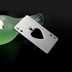 Casino the A of spades Stainless Steel Bottle Opener 8.5*5.5*0.19 cm(3.35*2.17*0.07 inch0