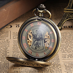 Men's Watch Pocket Watch Mechanical Vintage Alloy Bronze Case Cool Watch Unique Watch