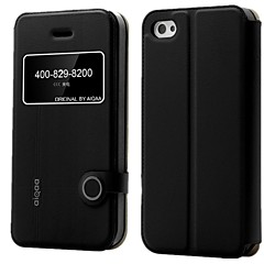 AIQAA™ Lemon Series PU Leather Window View Flash Phone Case Ultra-thin Flip Cover with stand for iPhone 4/4S