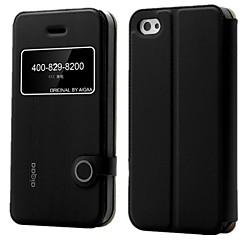 aiqaa ™ sitruuna sarja PU nahka ikkuna näkymä puhelimen flash tapauksessa ohut läppä kansi jalusta iPhone 4 / 4s