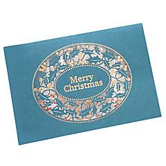 art cartes de Noël papier découpé au laser