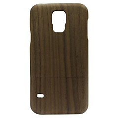 Kyuet Wooden Case Natural Handcrafted Black Walnut Shell Cover Skin Cell Phone Case for Samsung Galaxy S5