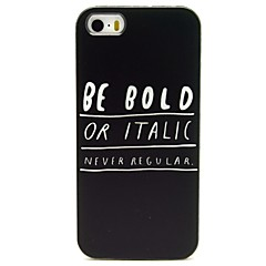 Be Bold Pattern PU Leather Full Body Case with Card Slot and Stand for iPhone 5/5S
